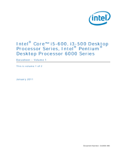 Intel® Core™, Pentium® Desktop Processor Series Datasheet, Vol. 1