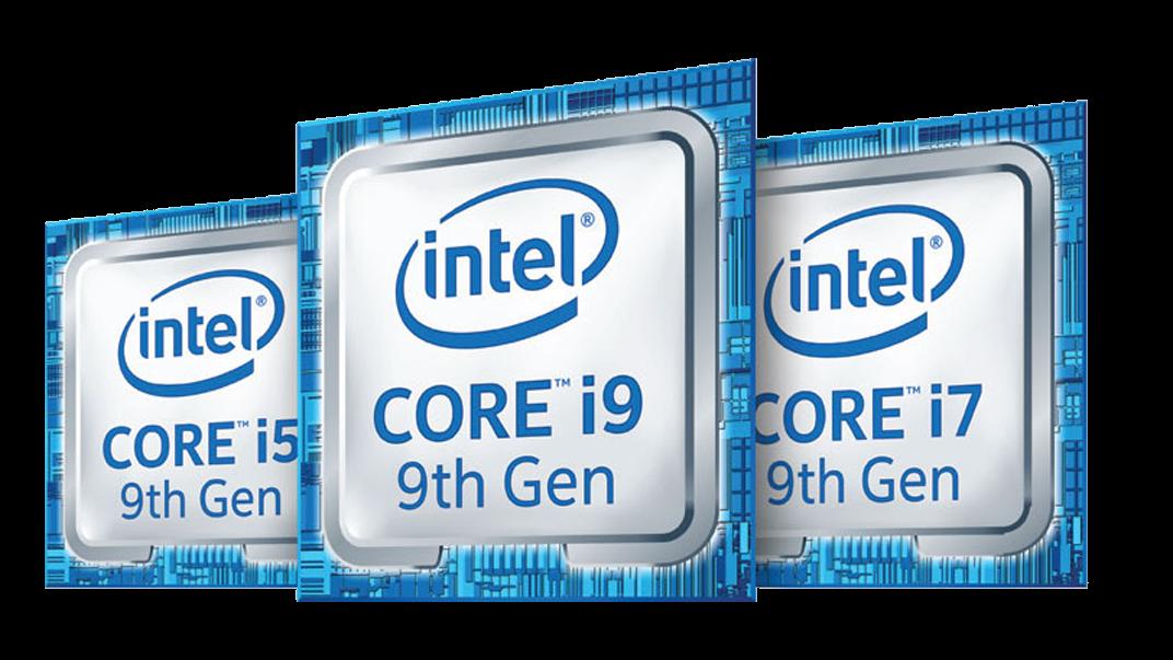 Insignia de la familia de procesadores Intel® Core ™ de novena generación