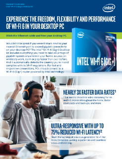 Intel® Wi-Fi 6 (Gig+) Desktop Kit Product Brochure