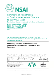 NSAI Certificate of Registration of Quality Management System to I.S. EN ISO 9001:2015