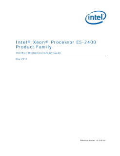 Intel® Xeon® Processor E5-2400 Product Family Thermal/Mechanical Design Guide