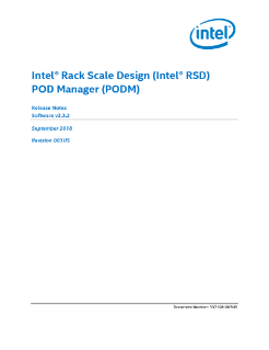 Intel® Rack Scale Design (Intel® RSD) POD Manager Release Notes