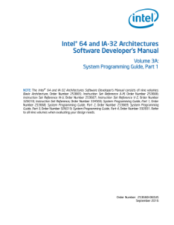 Intel® 64 and IA-32 Architectures Developer's Manual: Vol. 3A