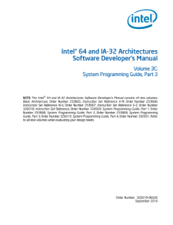 Intel® 64 and IA-32 Architectures Developer's Manual: Vol. 3C