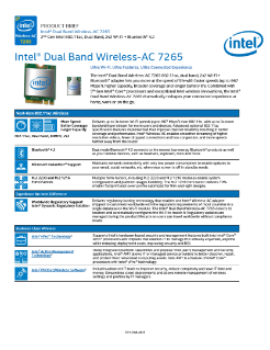 Intel® Dual Band Wireless-AC 7265: Product Brief