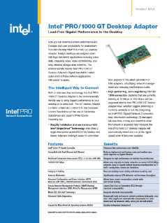Intel® PRO/1000 GT Desktop Adapter