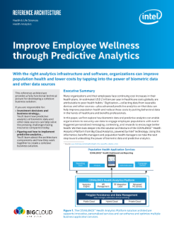 Improve Employee Wellness through Predictive Analytics