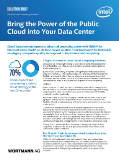 TERRA* for Microsoft Azure Stack*—Public Cloud for the Data Center