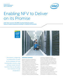 Enabling NFV to Deliver on its Promise