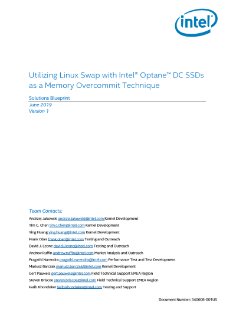 Memory Overcommit Linux* Swap with Intel® Optane™ DC SSDs