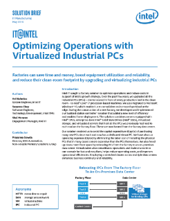Intel@IT: Win with Virtualized Industrial PCs