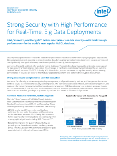 Strong Security and High Performance for Big Data Deployments