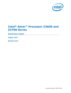 Intel® Atom™ Processor Z36xxx and Z37xxx Series: Spec Update