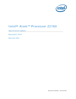 Intel Atom® Processor Z2760 Specification Update