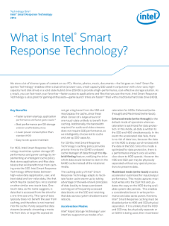 Technology Brief  Intel® Smart Response Technology  2014