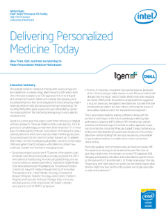 Delivering Personalized Medicine Today White Paper
