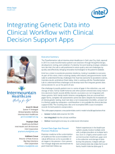 Transformation Lab and Intel: Integrating Genetic Data White Paper
