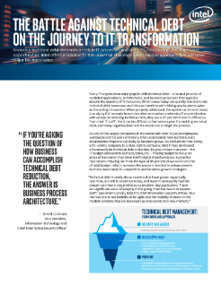 The Battle Against Technical Debt on the Journey to IT Transformation