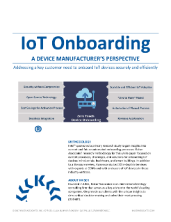 Kaiser Associates IoT Onboarding for Device Manufacturers White Paper