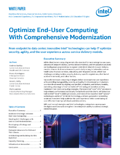 Optimize the End-User Computing Environment