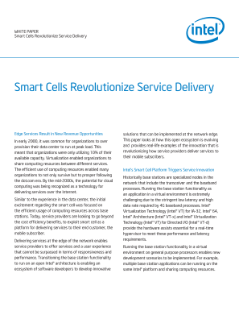 Network Edge Smart Cell Solutions Revolutionize Mobile Services,Smart Cells Revolutionize Service Delivery